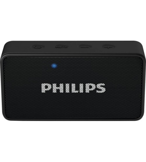 Philips BT64B/94 Bluetooth Speaker, Wireless, Portable, Black